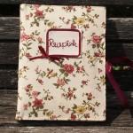Hímzett receptes füzet - Apró virágos receptek
