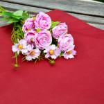 Egyszínű terítő bordó - pamut asztalközép