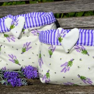 Levendulás tárolózsák - levendula virágmintás