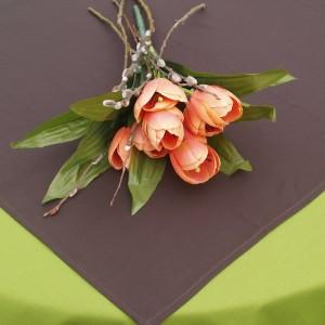 Egyszínű terítő barna - pamut asztalközép