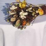 Fehér damaszt abrosz - Marion terítő