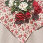 Rózsás asztalterítő - rusztikus rózsás