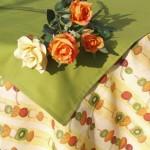 Kivis asztalterítő - gyümölcsös garnitúra