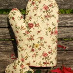 Edényfogó kesztyű - apró virágos garnitúra