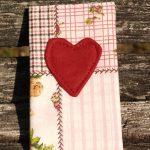 Rózsaszín patchwork mintás papírzsebkendő tartó