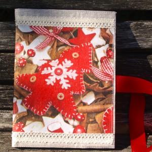 Karácsonyi napló - piros fenyőfás
