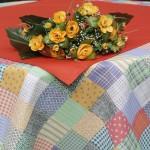 Kerek terítő - patchwork mintás asztalterítő