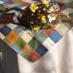 Asztalterítő pamut - rusztikus mintás garnitúra