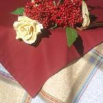 Asztalterítő garnitúra - nagy kockás mintás