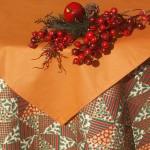 Karácsonyi asztalterítő - Narancs színű karácsonyi álom II.