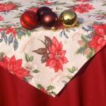 Karácsonyi asztalterítő - mikulásvirágos garnitúra