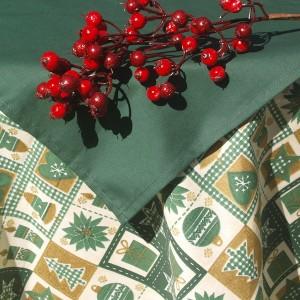 Kör karácsonyi terítő - zöld középpel