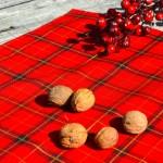 Karácsonyi abrosz piros - skót kockás