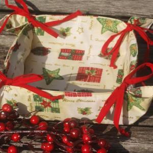 Adventi karácsonyi kenyérkosár - krém színű