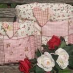 Rózsaszín tárolózsák - patchwork mintávalk