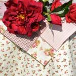 "Asztalterítő - ""Álmaim rózsái"" garnitúra"