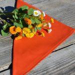 Textil szalvéta: egyszínű - narancssárga