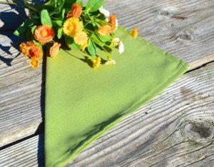 Textil szalvéta: egyszínű - olajzöld