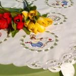 Húsvéti abrosz - kertész nyuszi