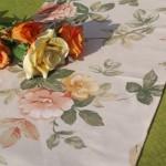 Asztali futó rózsás - Anglia rózsája terítő