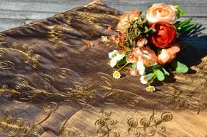 Barna asztalközép - barna