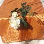 Asztali futó narancs - levélmintás terítő