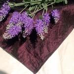 Lila asztalközép terítő - padlizsán színű terítő