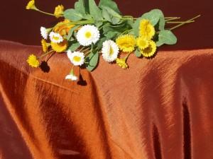 Ünnepi terítő narancs - mediterrán stílusú terítő