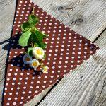 Textil szalvéta pöttyös: barna - fehér pöttyös