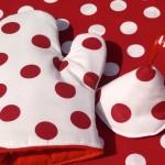Fehér-piros edényfogó kesztyű