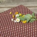 Pöttyös asztalközép barna - barna fehér pettyes