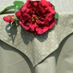 Nyers színű terítő - naturál asztalterítő garnitúra