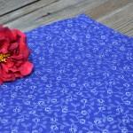 Kékfestő terítő - Apró virágos asztalközép