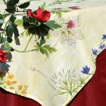 Vadvirágos terítő - bordó terítő garnitúra