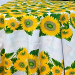 Napraforgós abrosz - sárga napraforgók