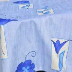 Kékvirágos terítő - kék színű tulipánok