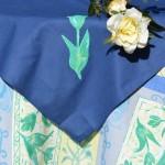 Asztalterítő garnitúra - kék tulipán