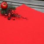 Egyszínű terítő piros - pamut asztalközép