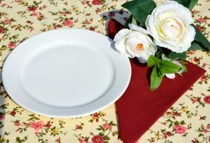 Rózsás asztalterítők - rózsák az asztalon