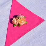 Egyszínű textil szalvéta - pink