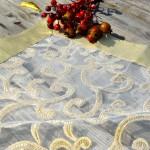Karácsonyi asztalközép - arany, krém