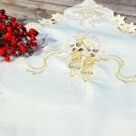 Karácsonyi asztalközép - hímzett III.
