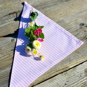 Textil szalvéta: rózsaszín csíkos