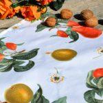 Asztalközép - gyümölcsös terítő