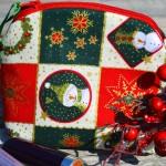 Karácsonyi piperetáska - hóemberes