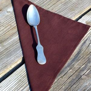 Textil szalvéta egyszínű - barna