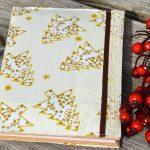 Karácsonyi receptes füzet - arany fenyős füzet