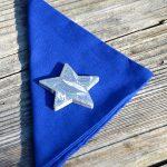 Egyszínű textil szalvéta - kék