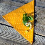 Pöttyös textil szalvéta - sárga fehér pöttyös