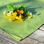 Olajzöld terítő - egyszínű pamut asztalközép